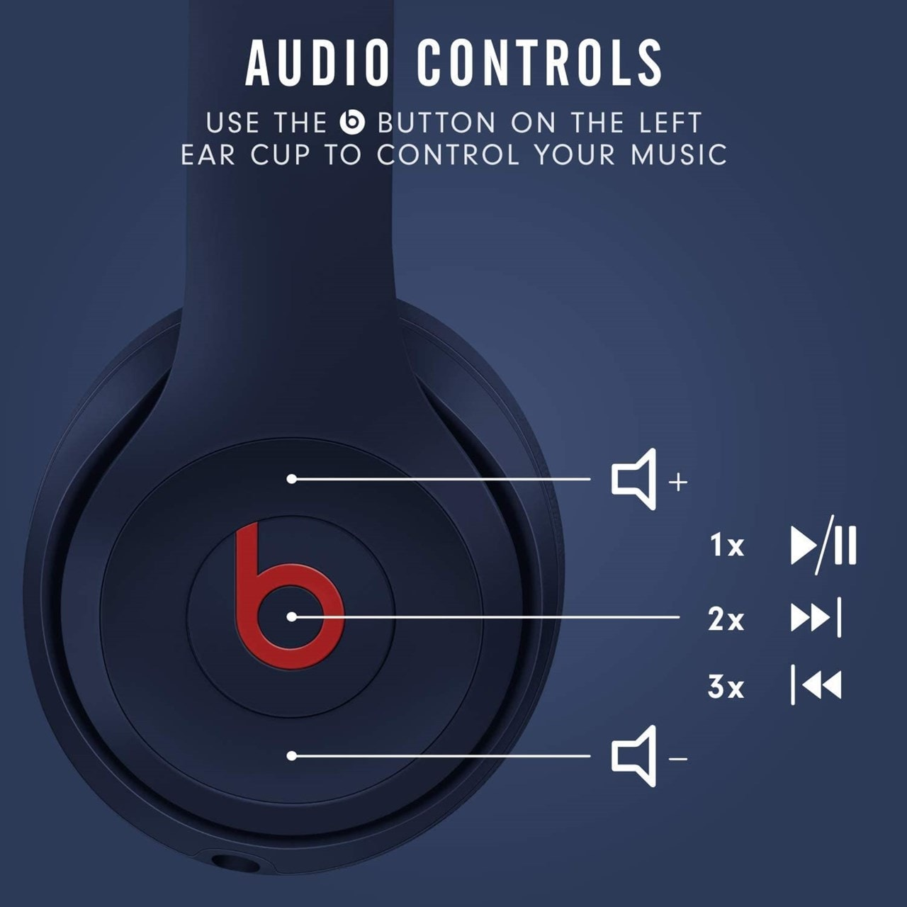 Beats By Dr Dre Solo 3 Wireless Club Navy Headphones - 4