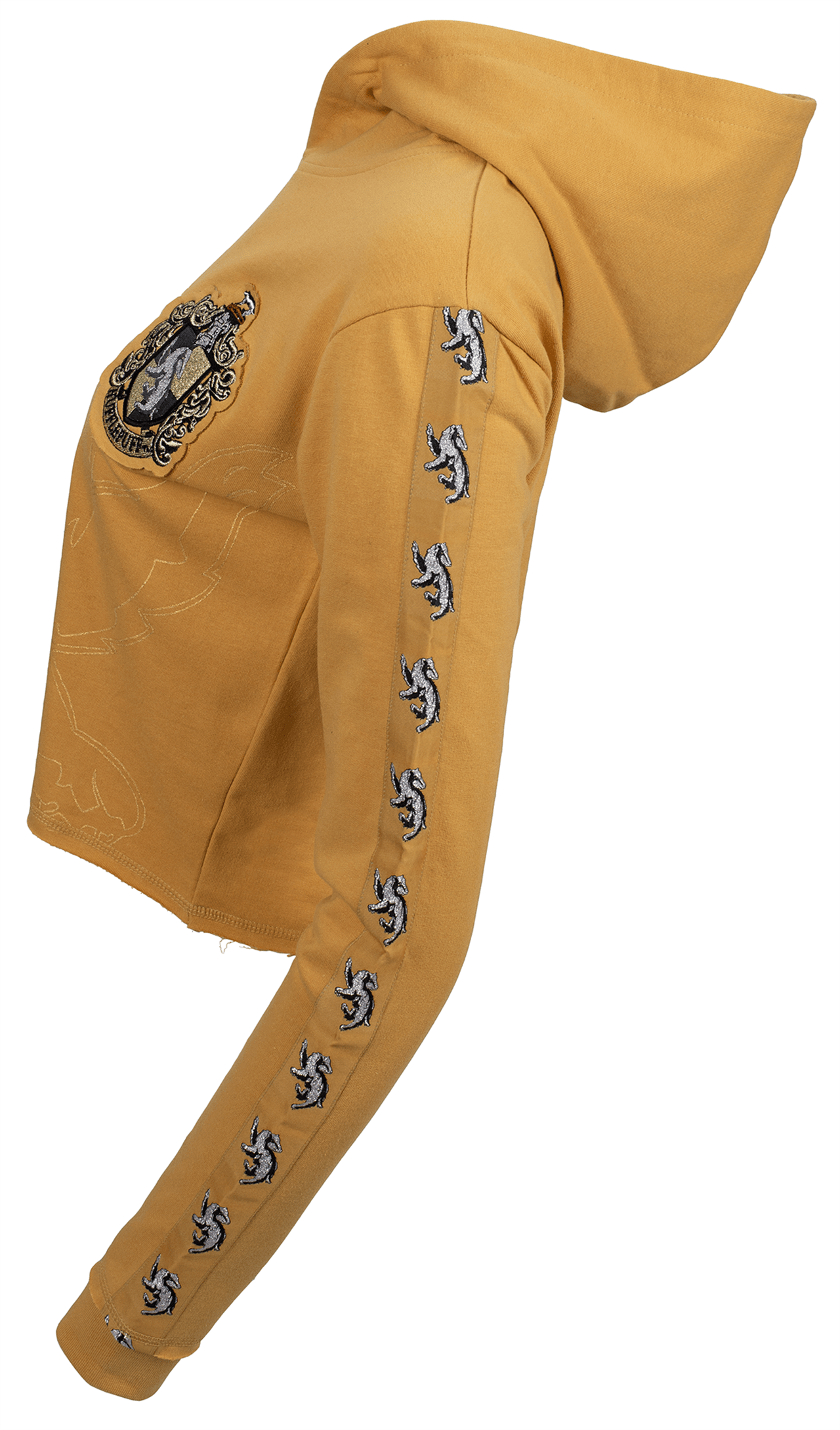 Harry Potter: Hufflepuff Ladies Cropped Hoodie (Small) - 2