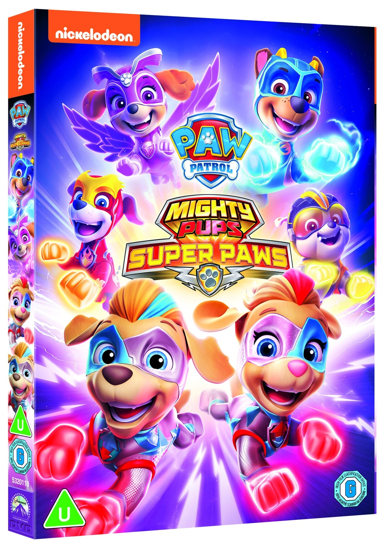 paw patrol mighty pups  super paws  dvd  free shipping