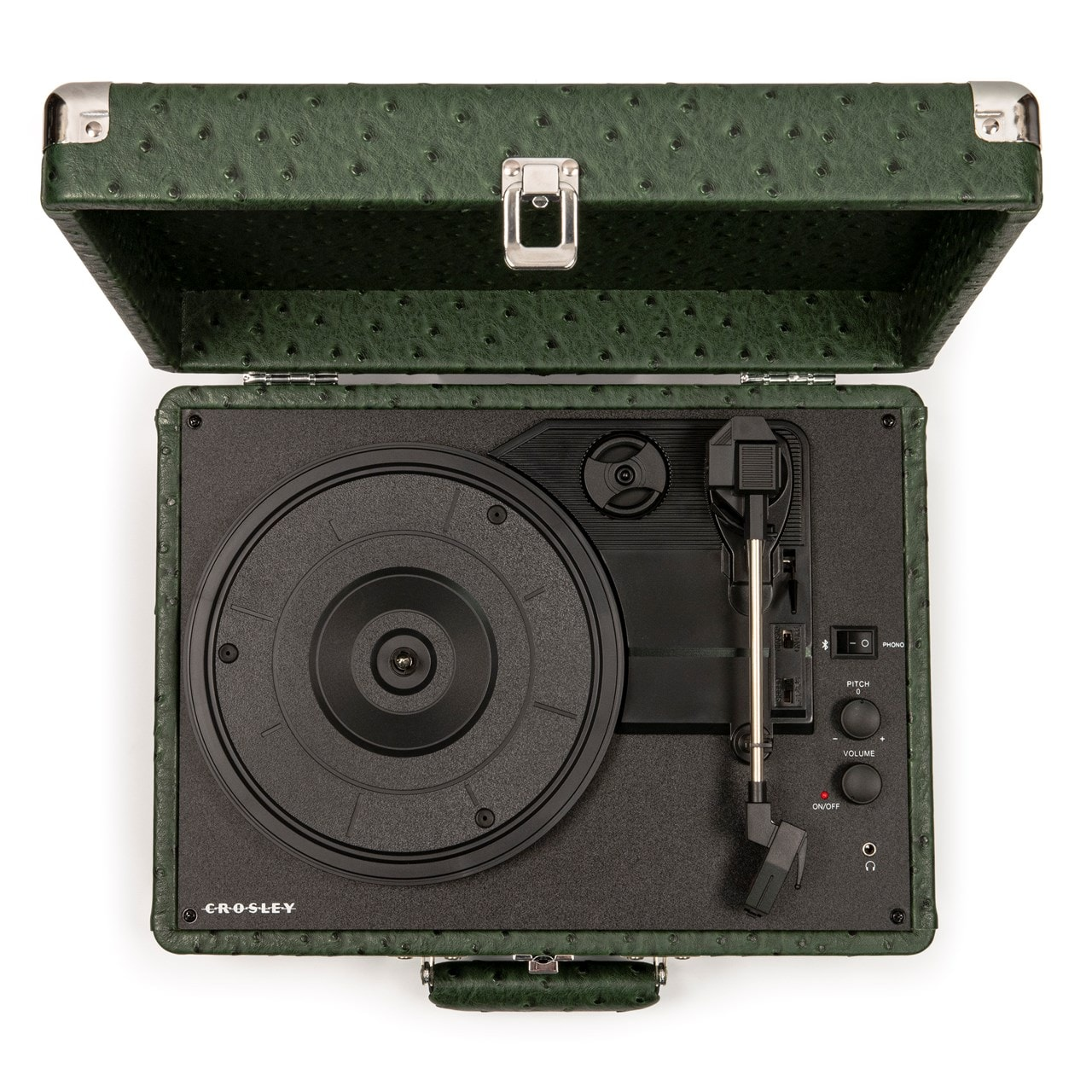 Crosley Cruiser Deluxe Green Ostrich Turntable - 6