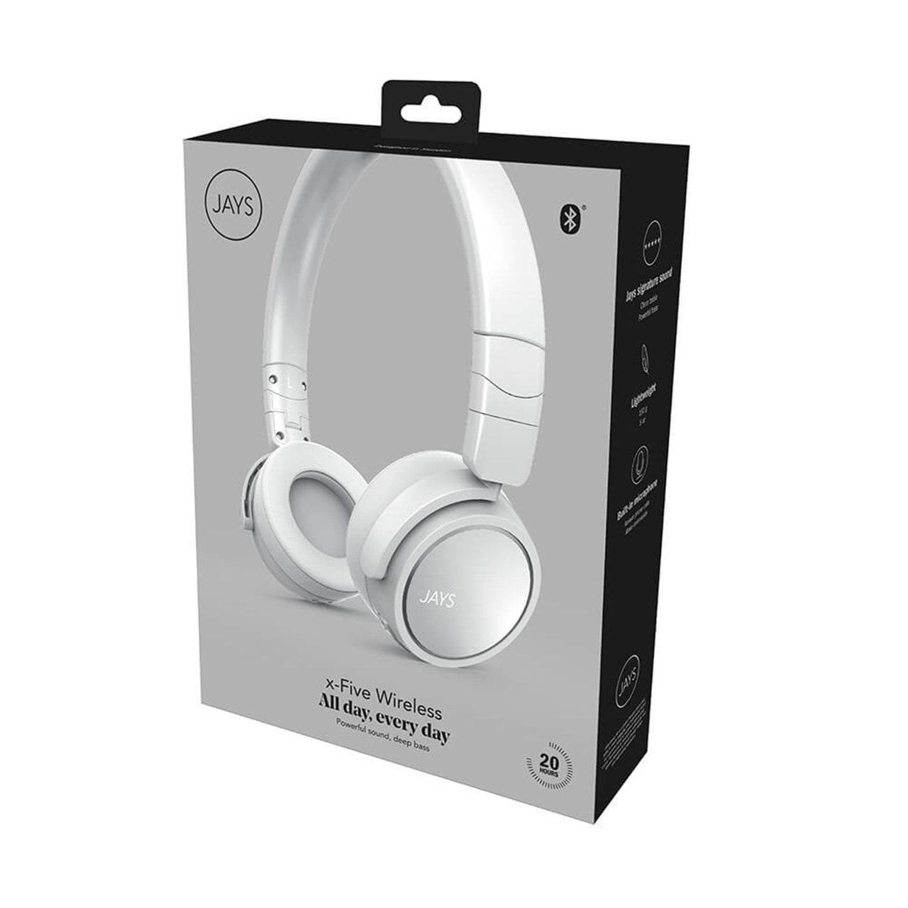 Jays X-Five White Bluetooth Headphones - 3