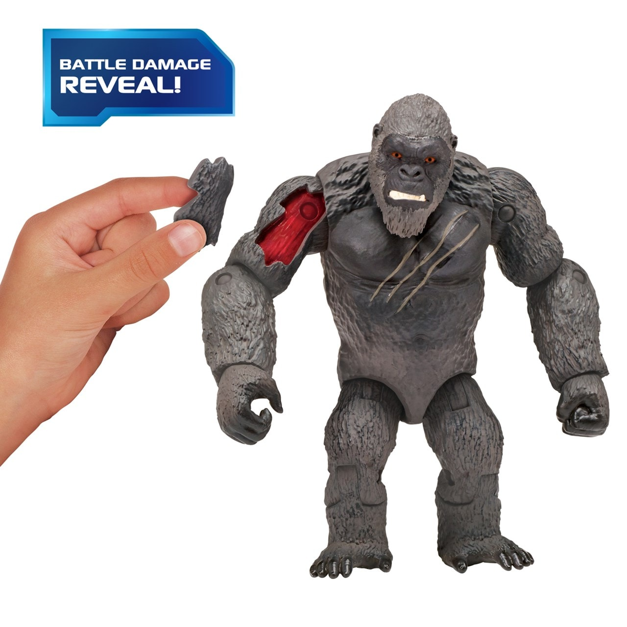 Monsterverse Godzilla vs Kong: Hollow Earth Kong with Fighter Jet Action Figure - 1