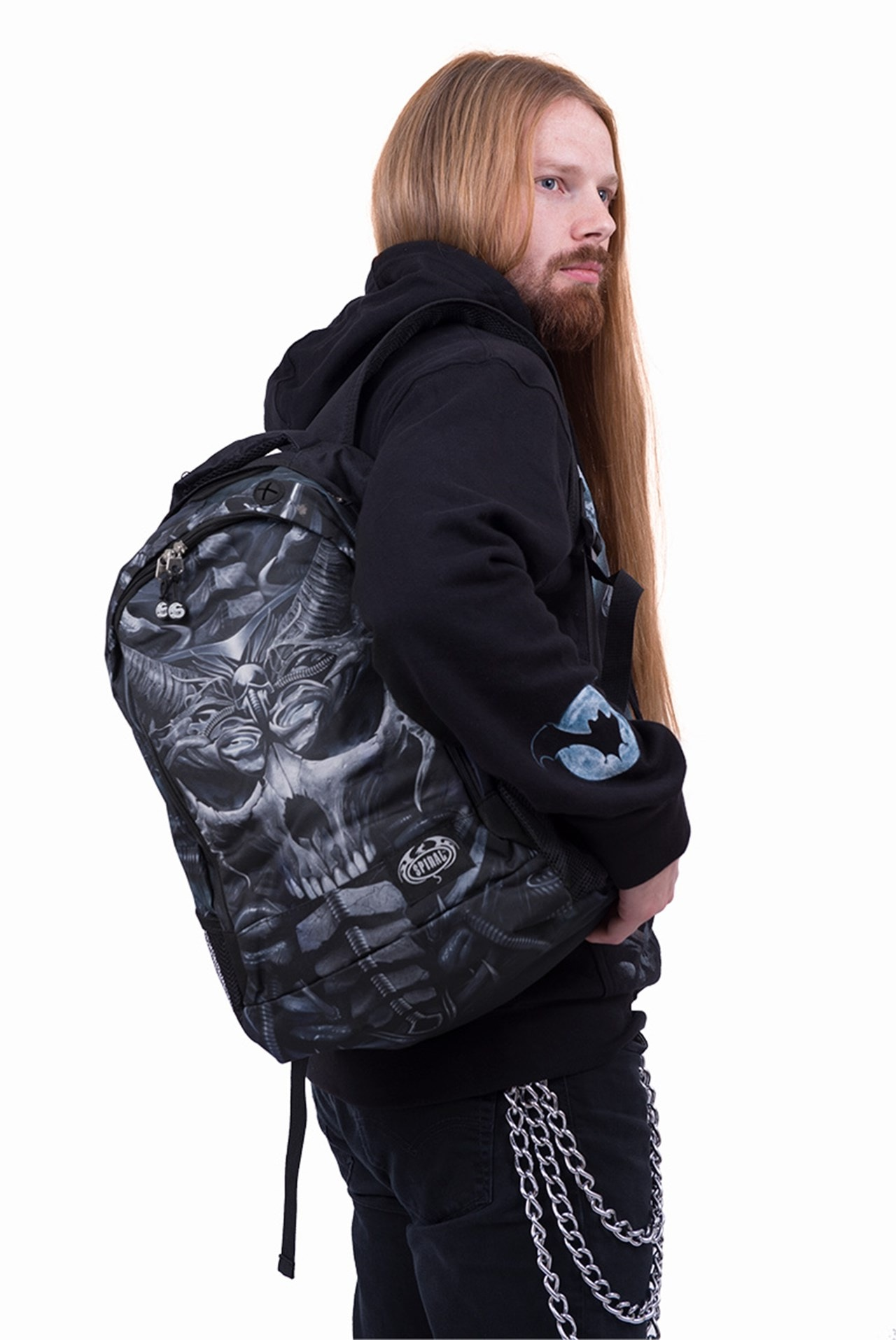 Skull Armour Backpack with Laptop Pocket - 2