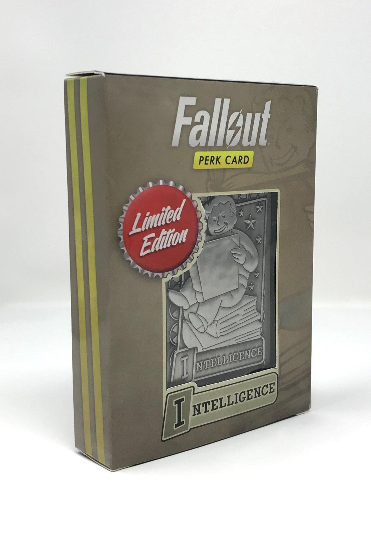 Fallout: Intelligence Metal Perk Card - 1