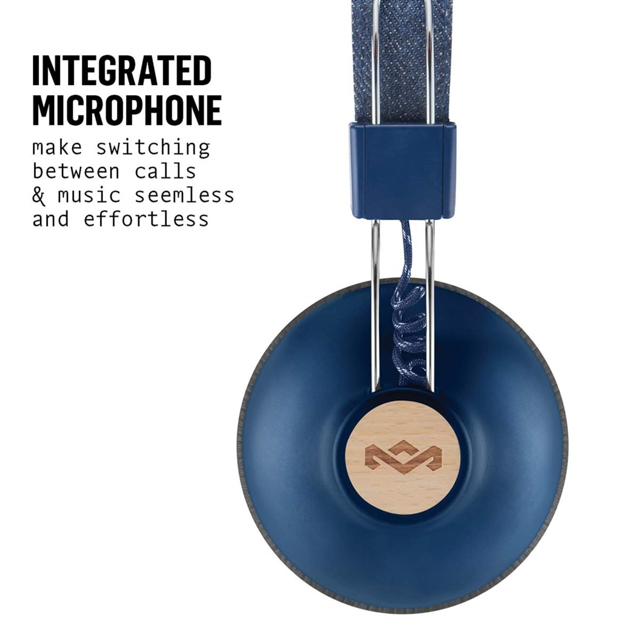 House Of Marley Positive Vibration 2 BT Denim Bluetooth Headphones - 2