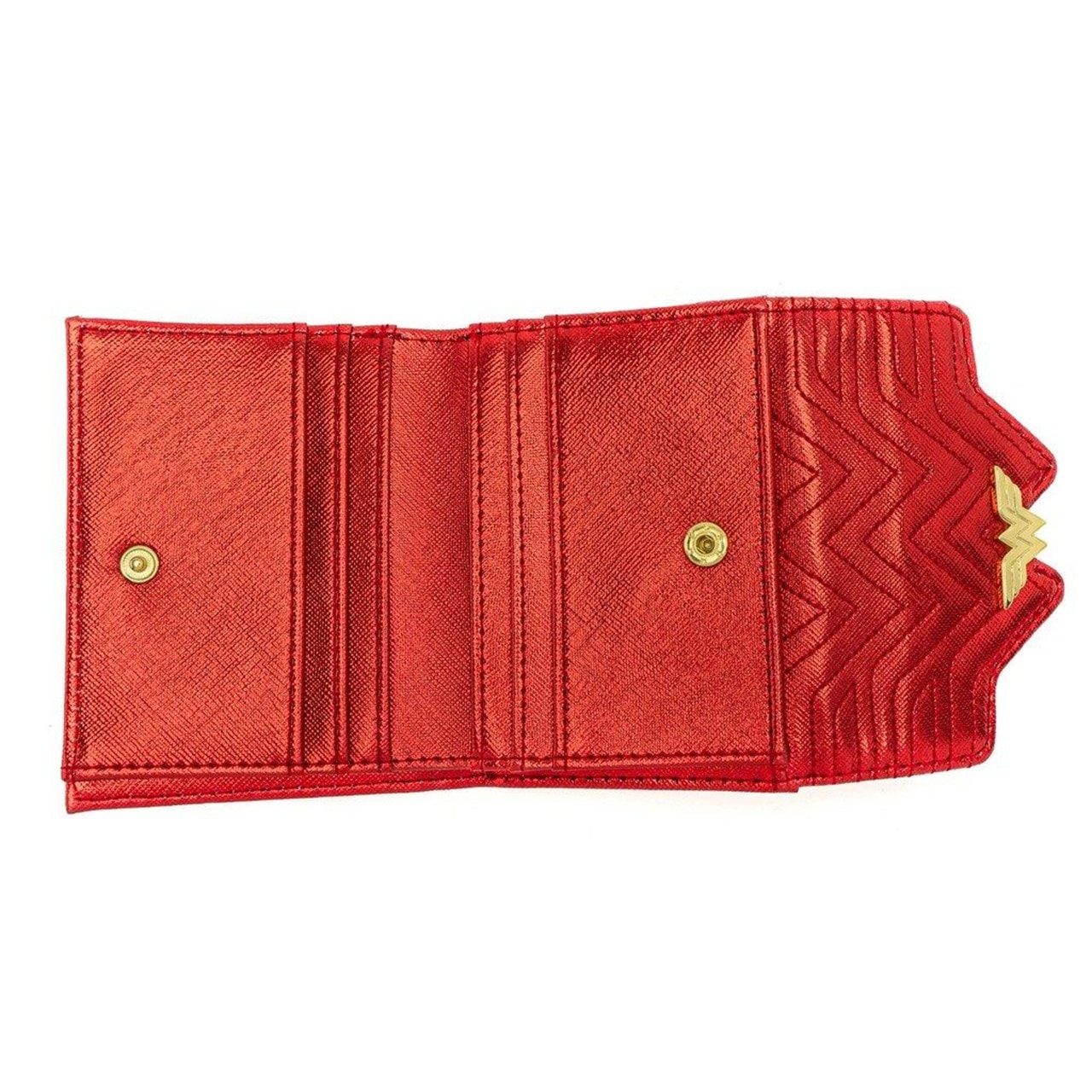 Loungefly X DC Comics Wonder Woman Red White And Blue Flap Wallet - 3