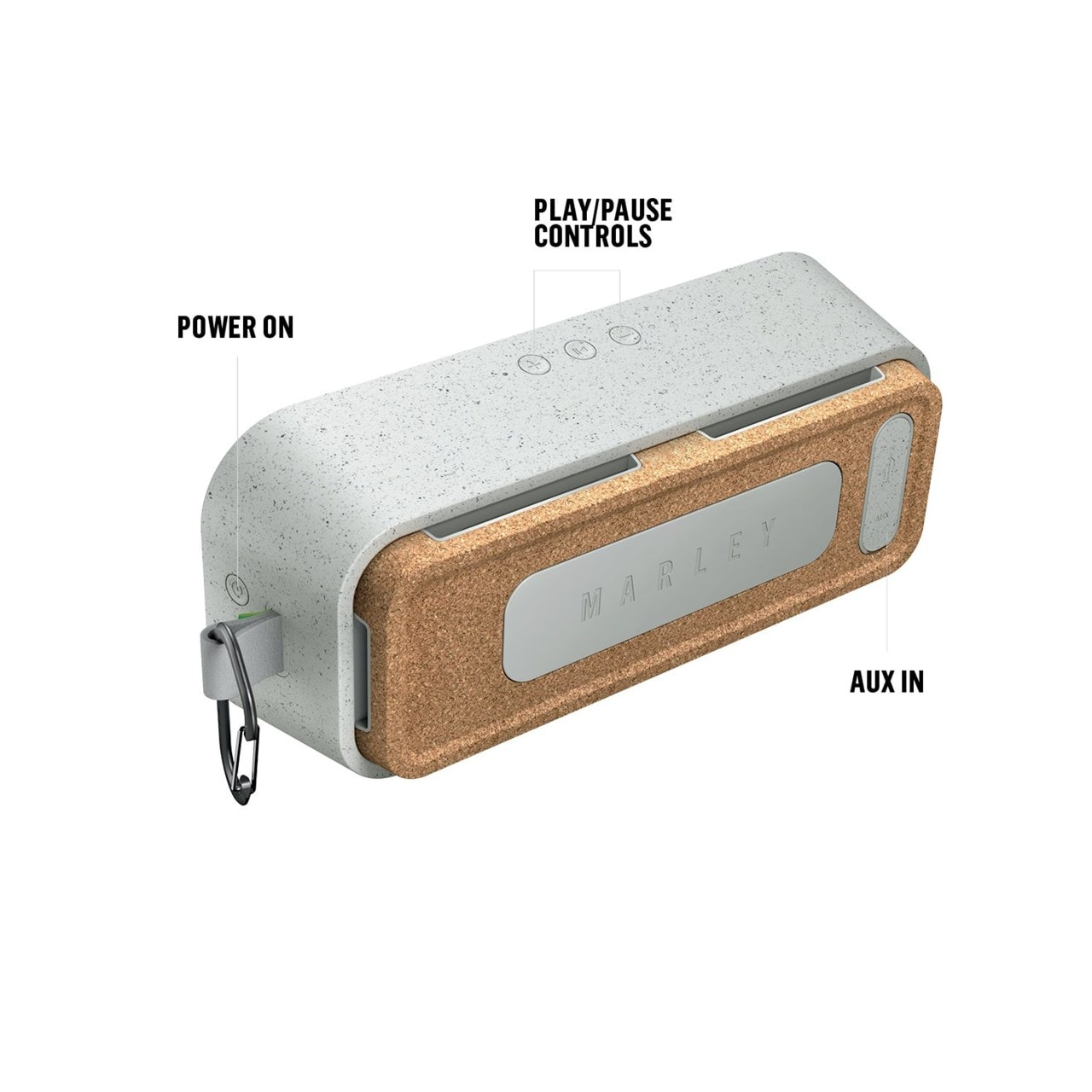 House Of Marley No Bounds XL Grey Bluetooth Speaker - 2