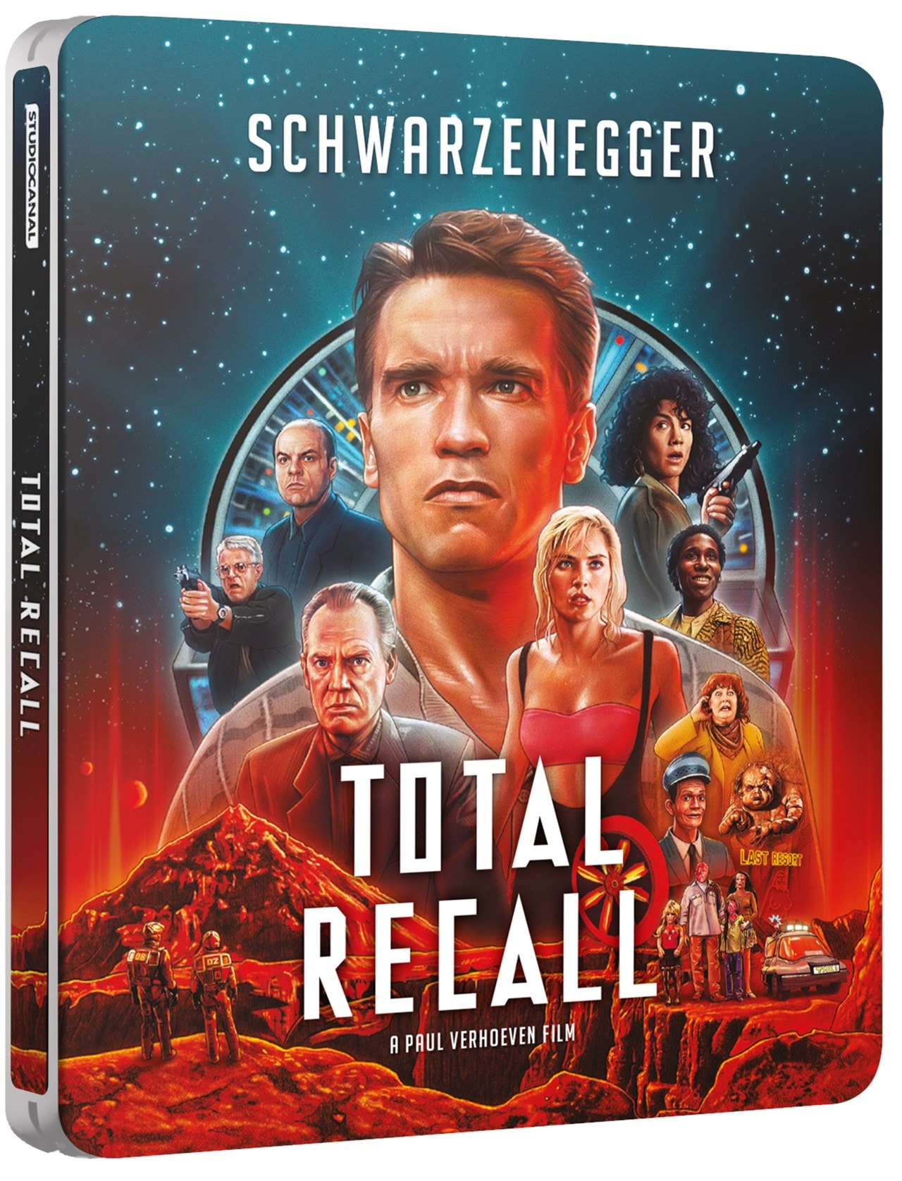 Total Recall 30th Anniversary 4k Ultra Hd Limited Edition Steelbook 4k Ultra Hd Blu Ray Free Shipping Over 20 Hmv Store