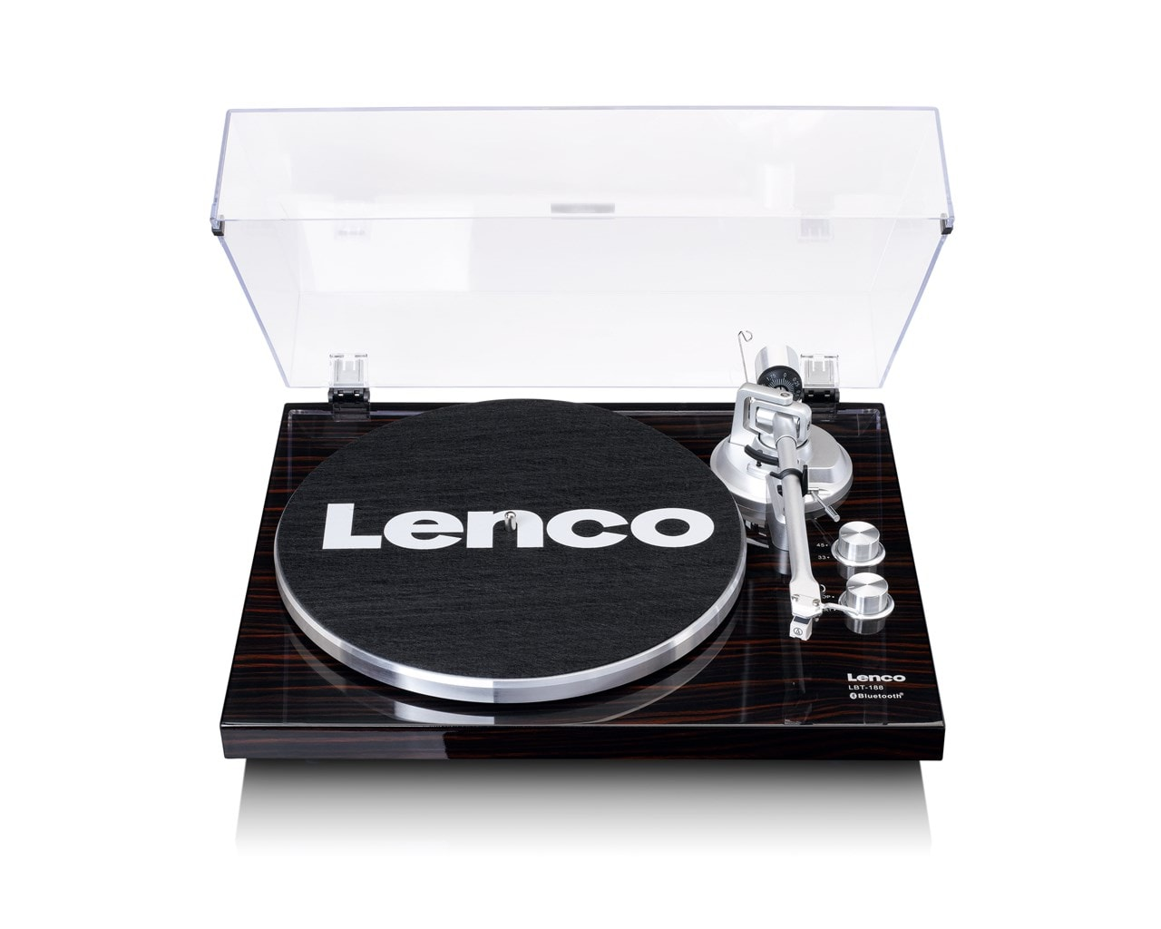 Lenco LBT-188 Walnut Bluetooth Turntable - 1