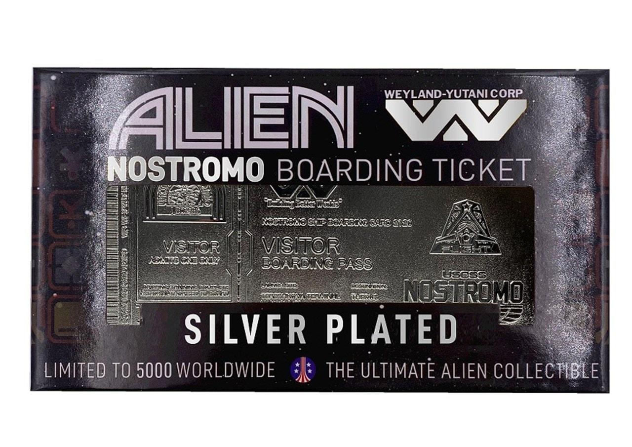 Alien: Silver Plated Ticket Metal Replica (online only) - 2