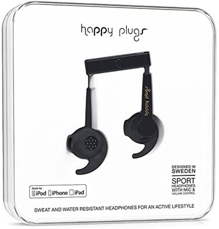 Happy Plugs Sport Black Sports Earphones (online only) - 1
