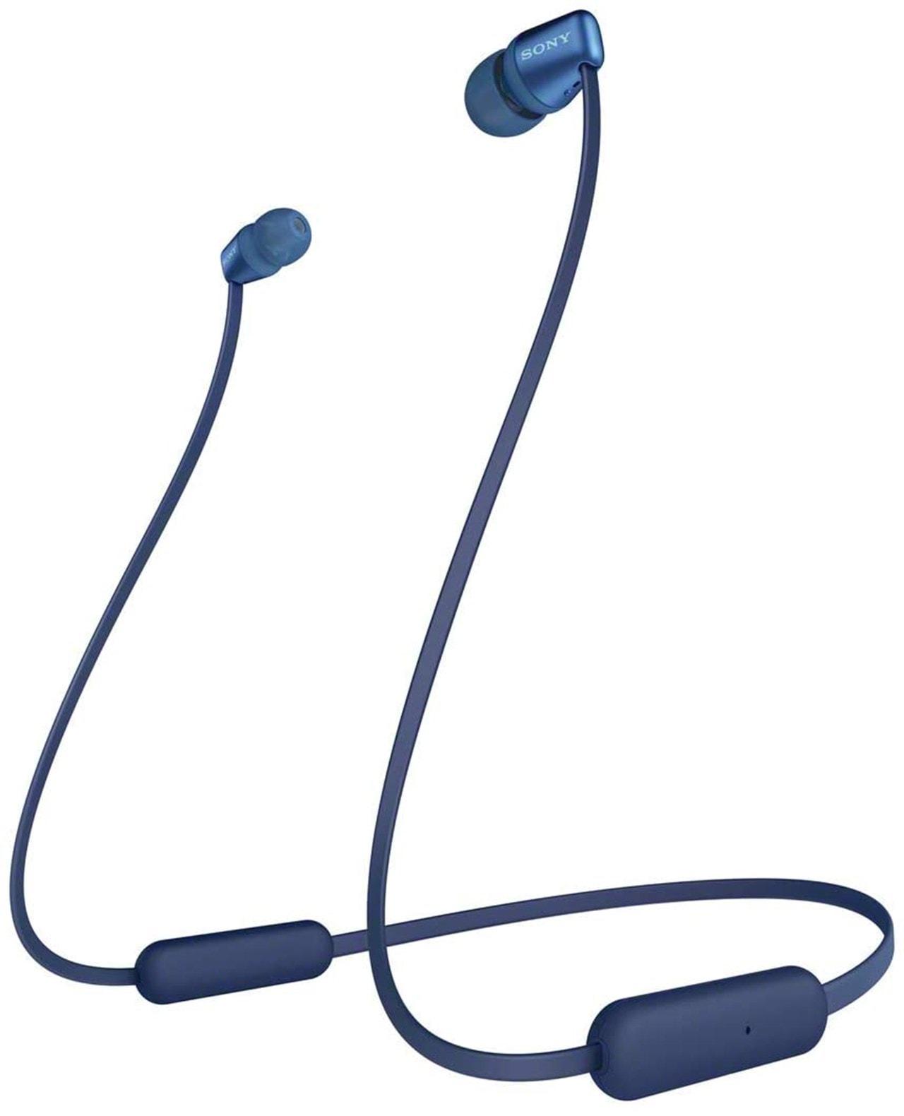 Sony WI-C310 Blue Bluetooth Earphones - 1