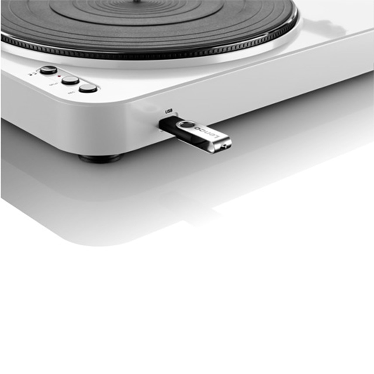 Lenco L-85 White USB Turntable - 3