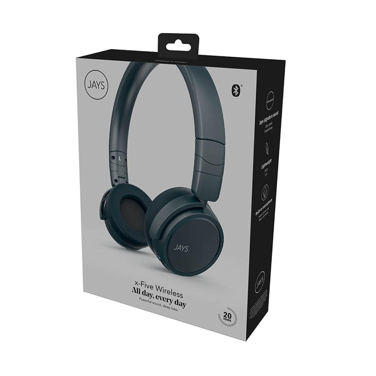 Jays X-Five Blue Bluetooth Headphones - 2