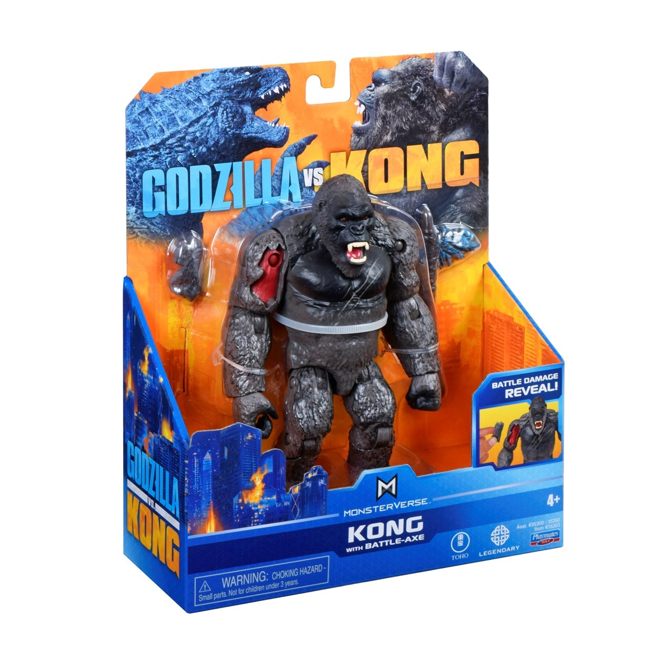 Monsterverse Godzilla vs Kong: King Kong with Axe Action Figure - 5