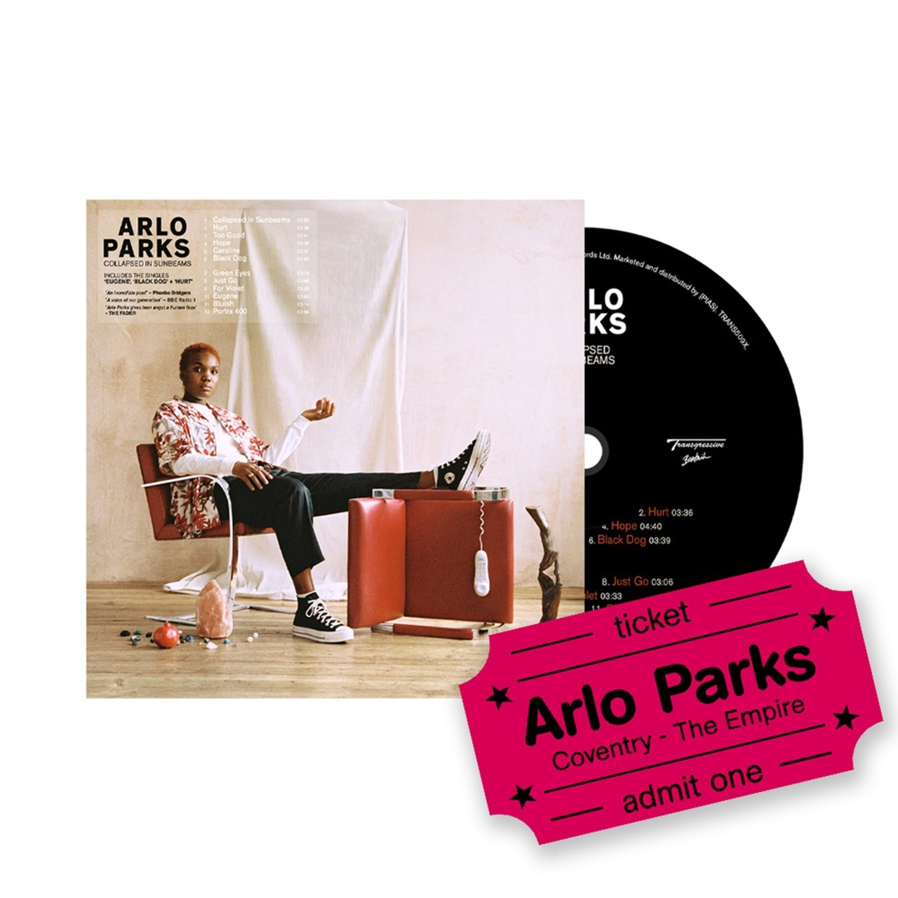 Arlo Parks - Collapsed In Sunbeams - CD & Coventry Empire Event Entry - 1
