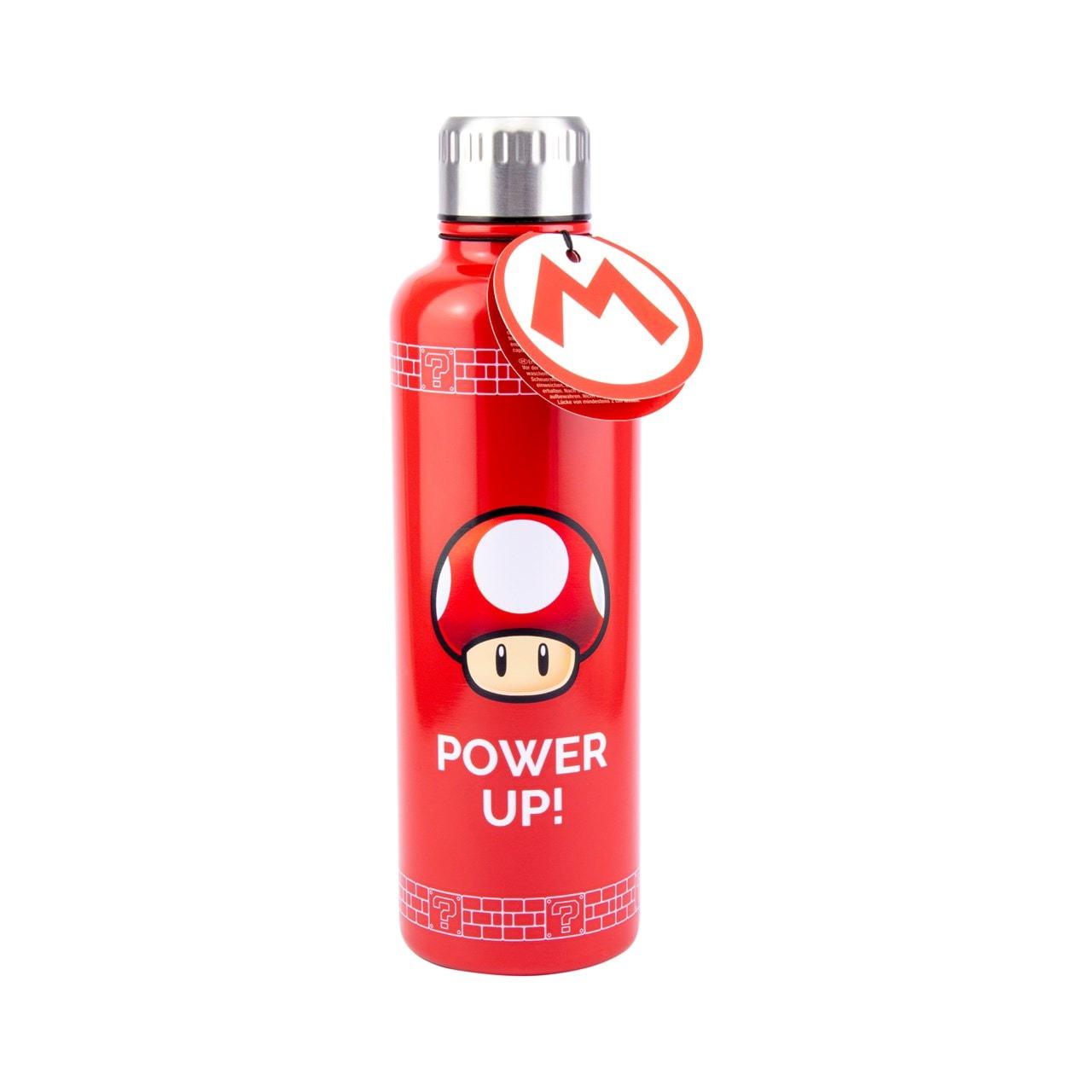 Nintendo: Super Mario Power Up Metal Water Bottle - 1