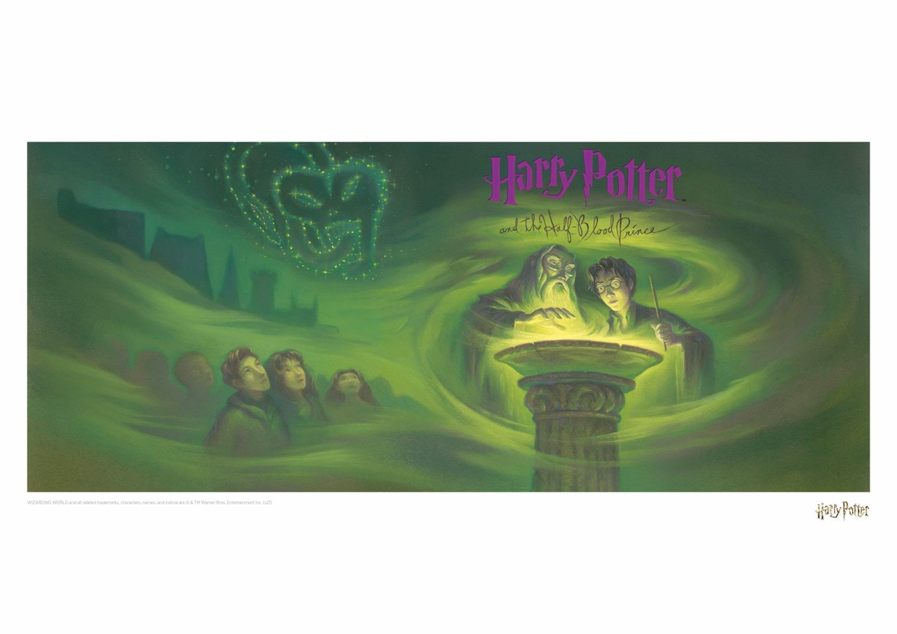 Harry Potter: Half Blood Prince Book Cover Art Print - 1