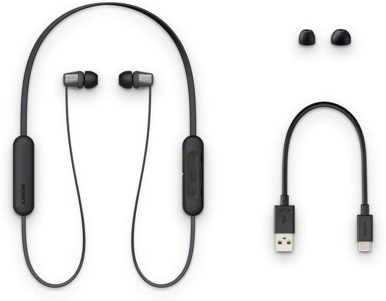Sony WI-C310 Black Bluetooth Earphones - 4