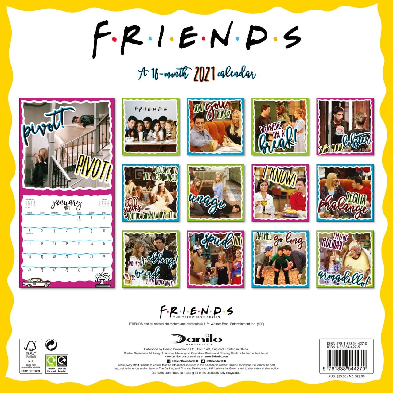 Friends: Square 2021 Calendar - 5