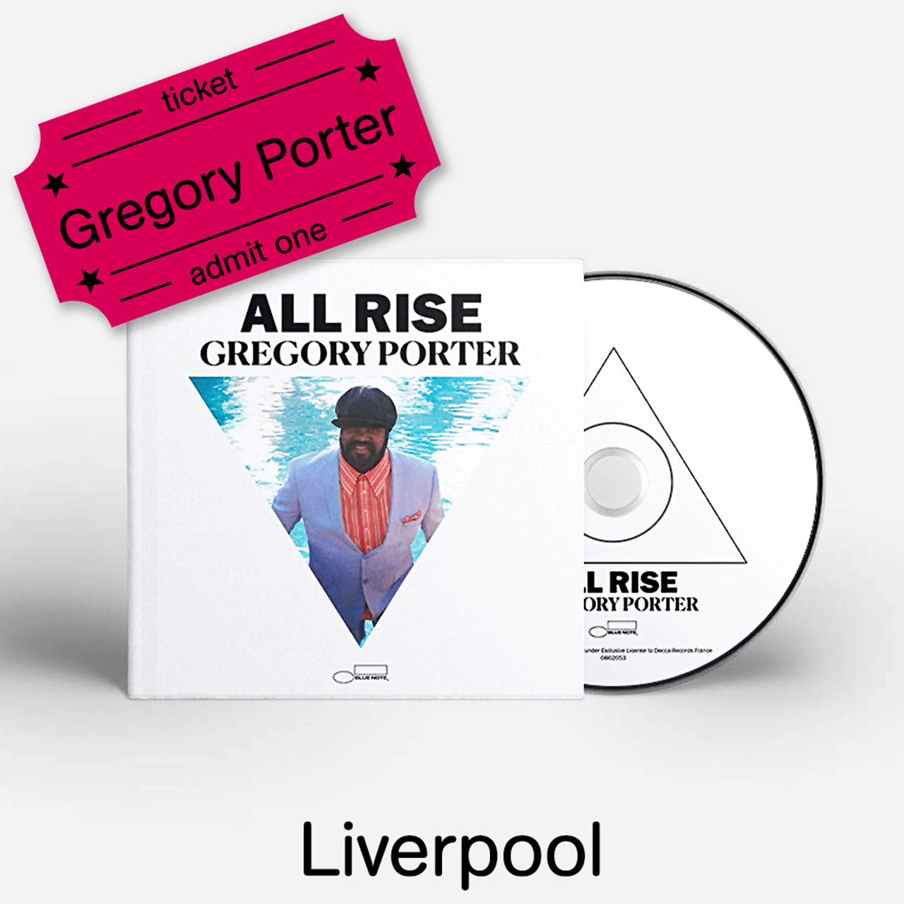 Gregory Porter - All Rise - Deluxe CD & Liverpool Academy e-Ticket - 1