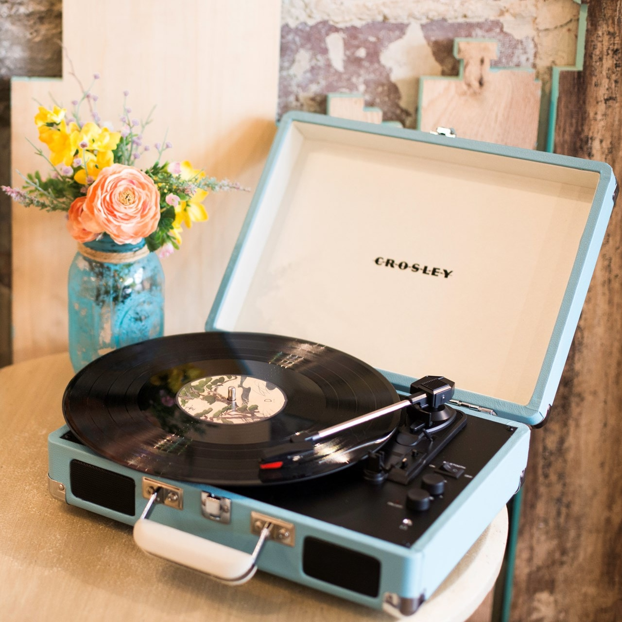 Crosley Cruiser Deluxe Turquoise Turntable - 7