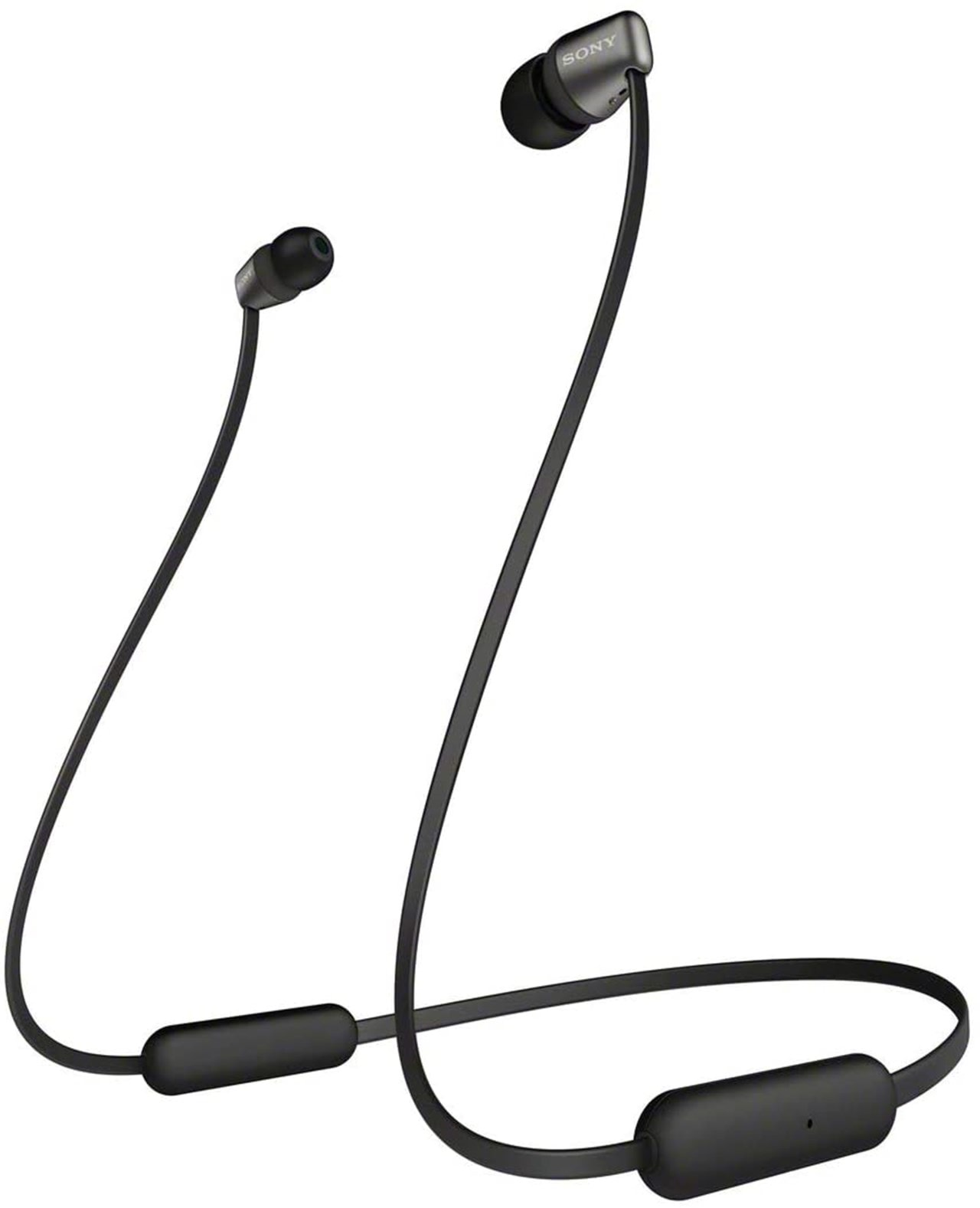 Sony WI-C310 Black Bluetooth Earphones - 1