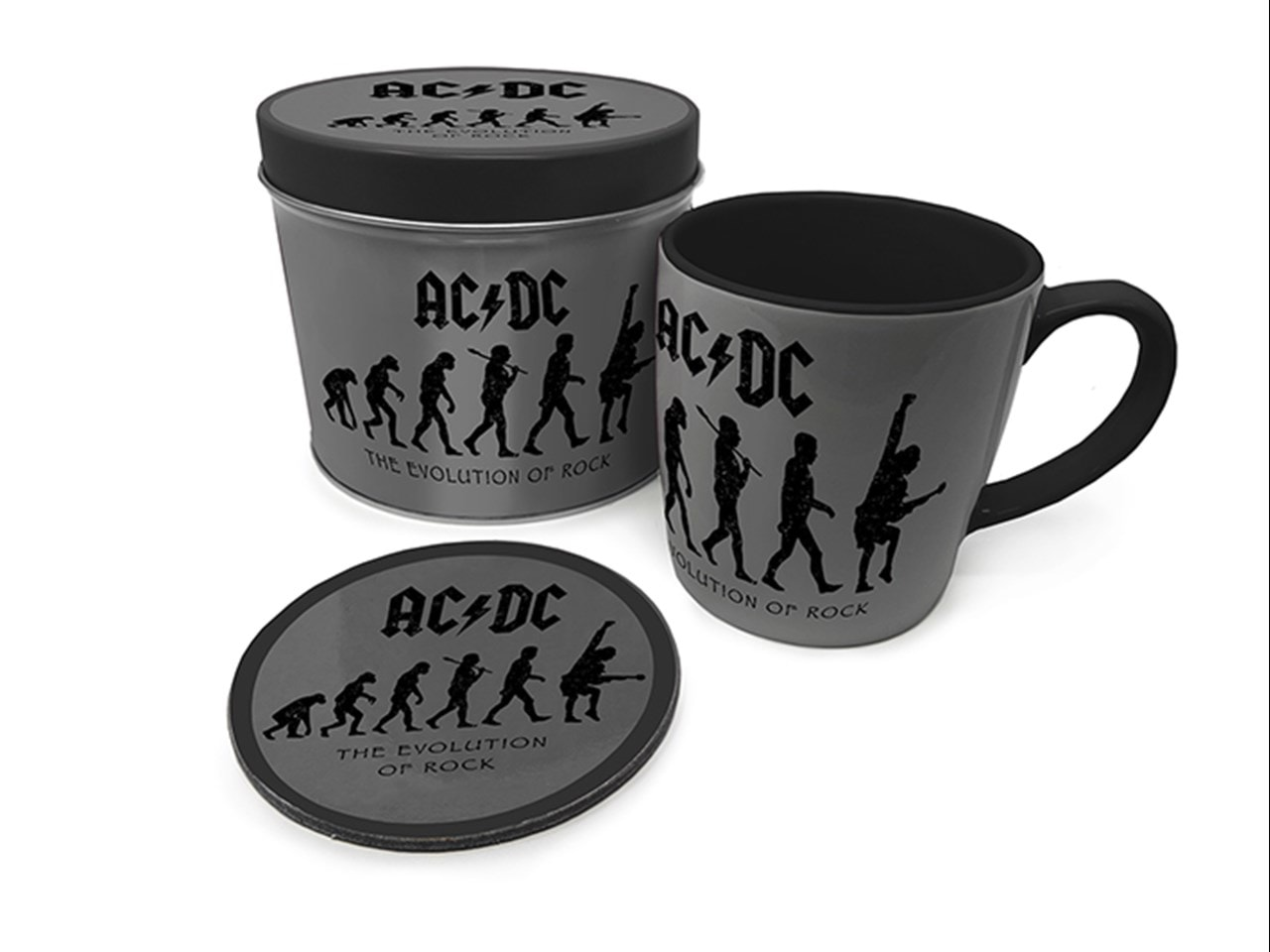 AC/DC: Evolution Of Rock Mug Gift Set in Tin - 1