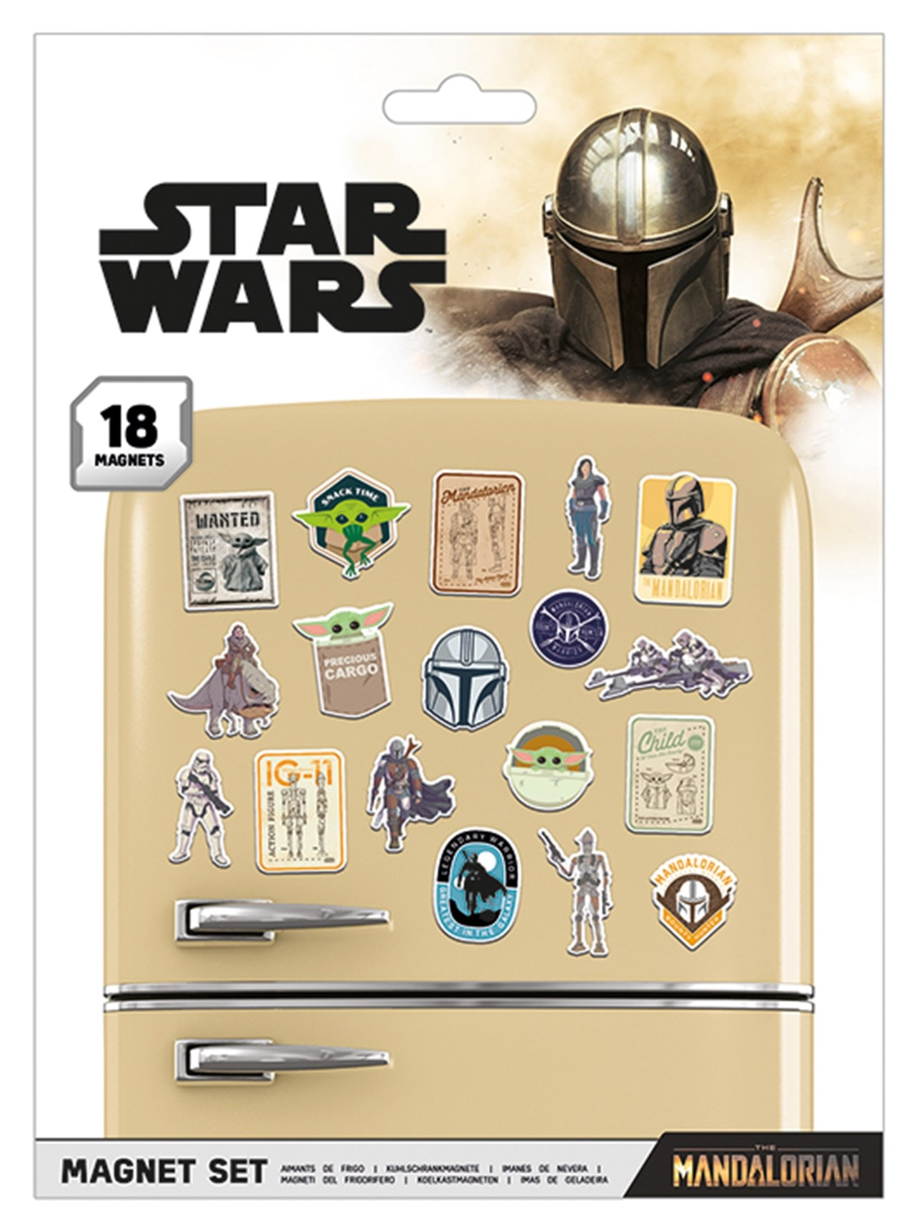 The Mandalorian: Bounty Hunter Magnet Set - 1