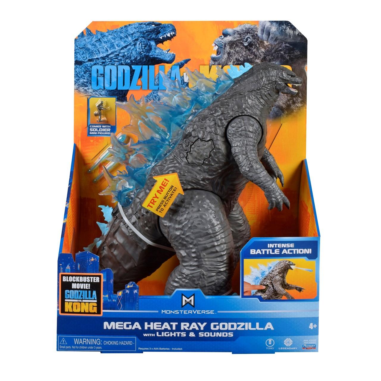 Monsterverse Godzilla vs Kong: Mega Godzilla with Lights & Sounds Action Figure - 5