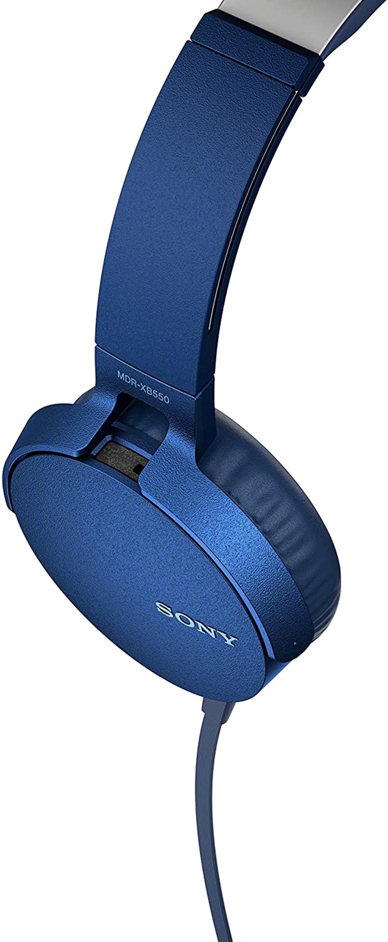 Sony XB550AP Blue Extra Bass Headphones - 7