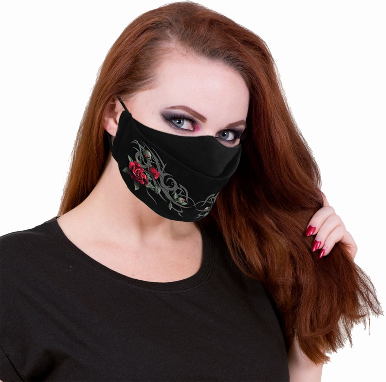 Tribal Rose Cotton Face Covering - 2