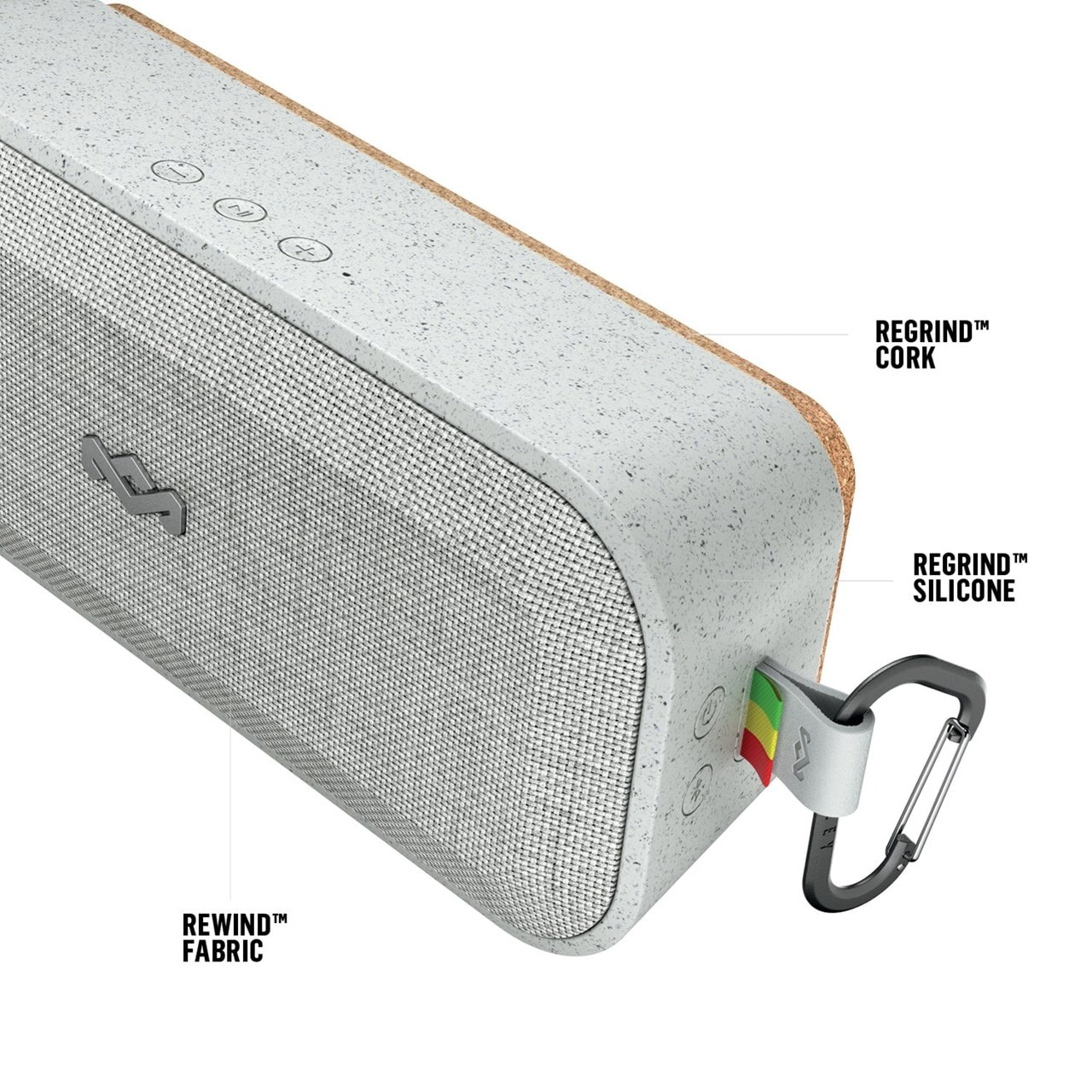 House Of Marley No Bounds XL Grey Bluetooth Speaker - 3