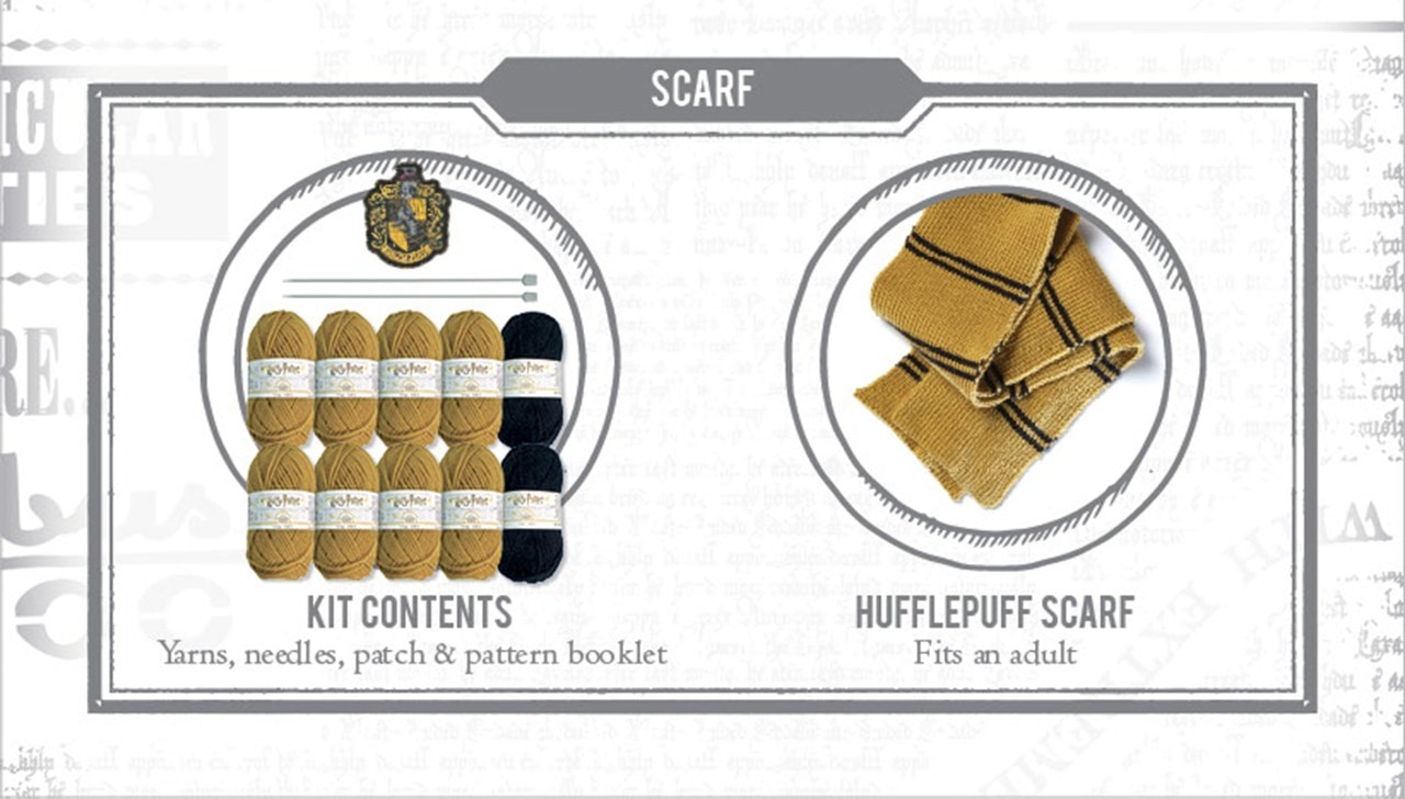 Hufflepuff House Scarf: Harry Potter Knit Kit - 3