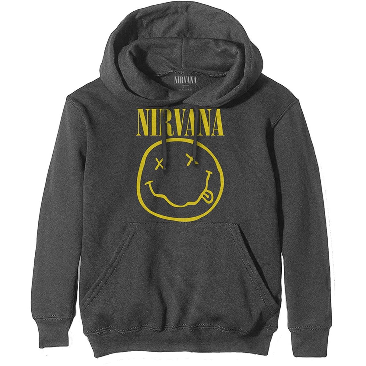 Nirvana Yellow Smiley Hoodie (Large) - 1