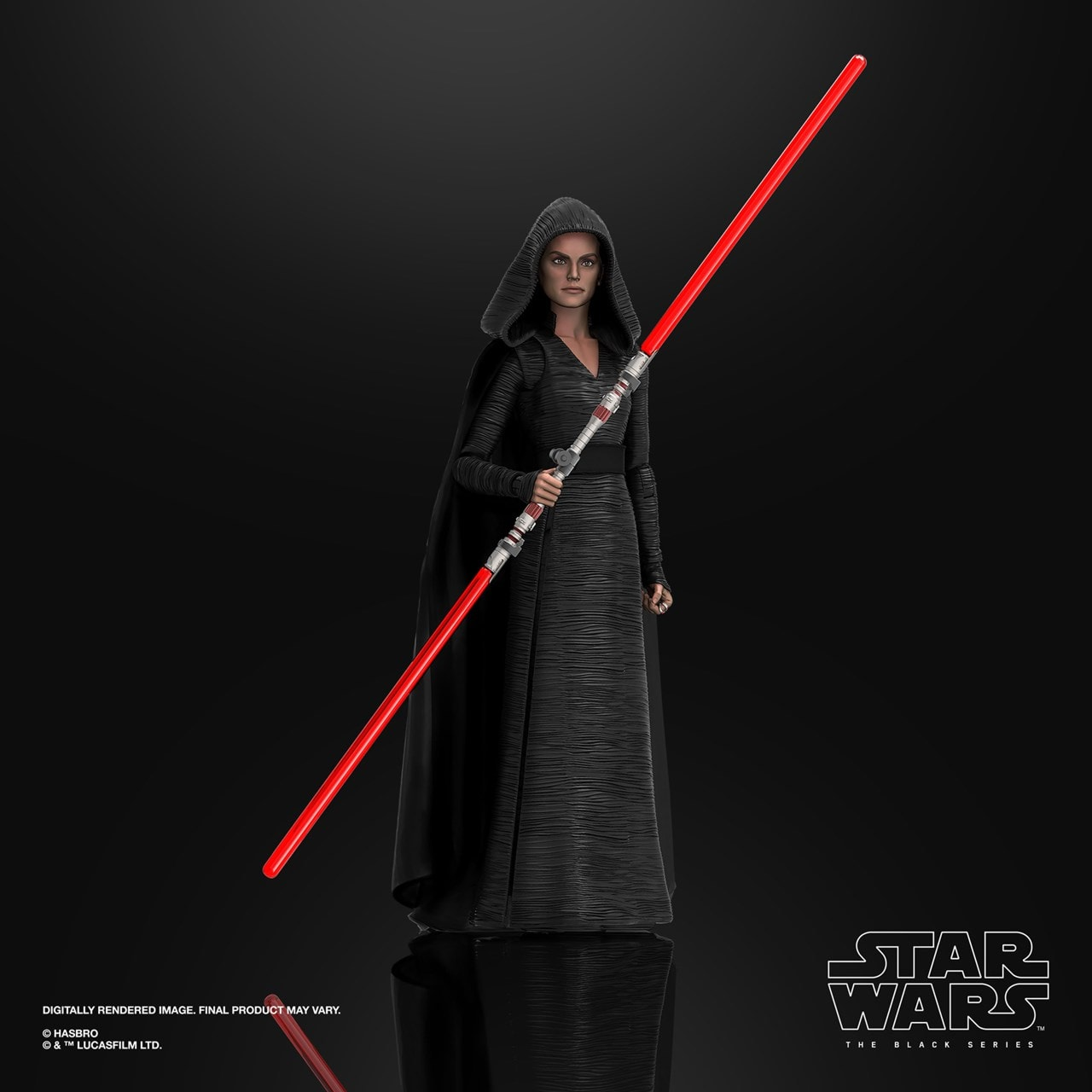 Rey (Dark Side Vision) Episode 9: The Black Series: Star Wars Action Figure - 2