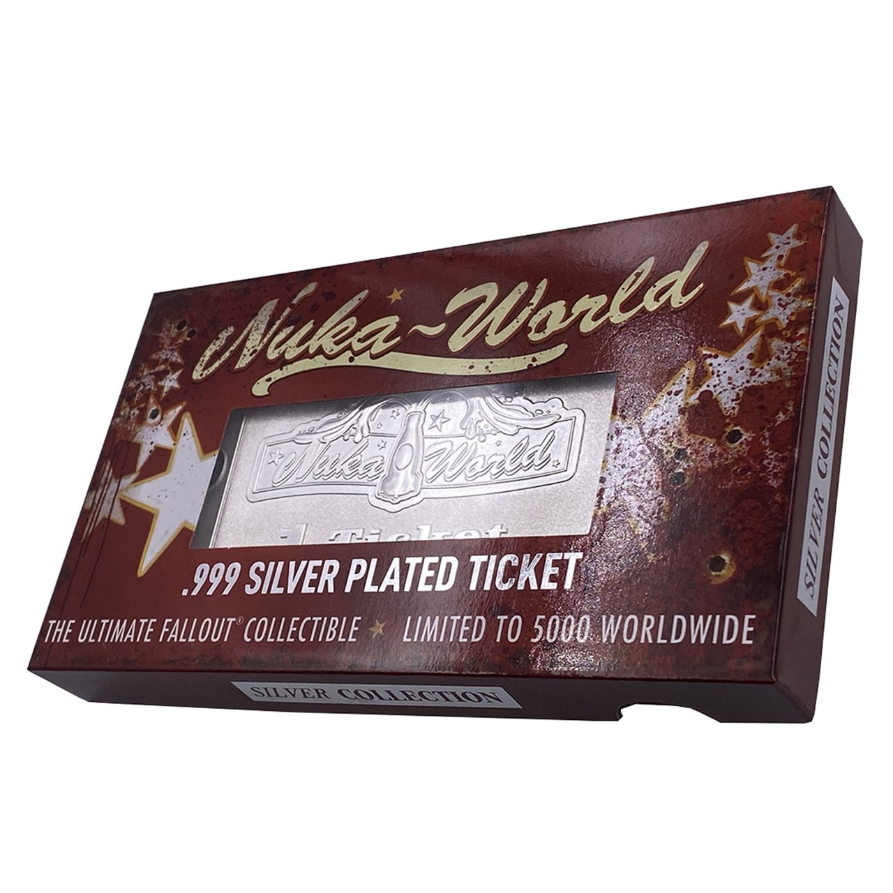 Fallout: Nuka World: Silver Plated Ticket Metal Replica (online only) - 2