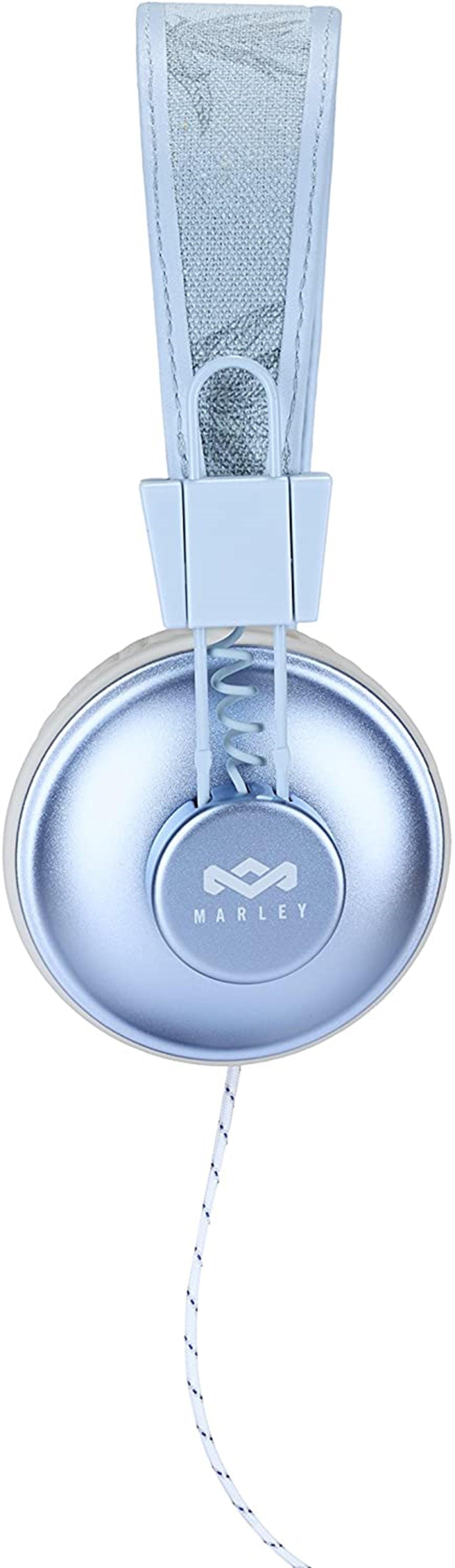 House Of Marley Positive Vibration Blue Hemp Headphones W/Mic (hmv Exclusive) - 3