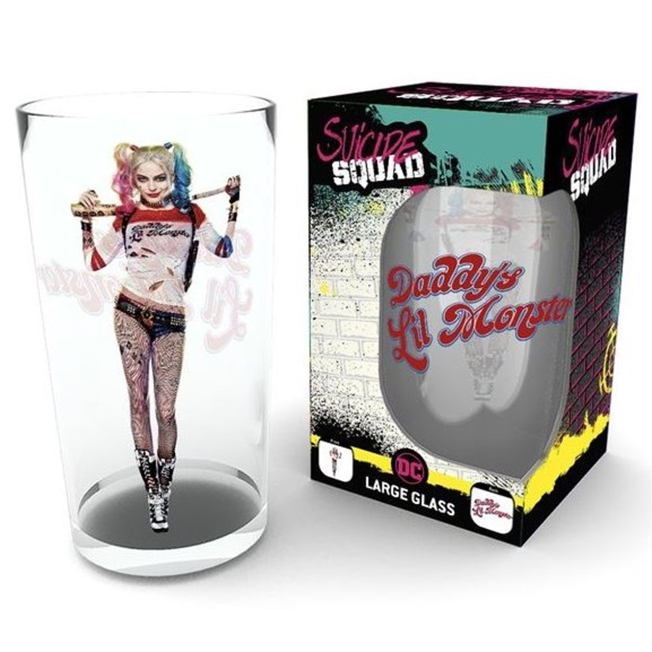 Harley Quinn Bat: Suicide Squad Large Glass - 1
