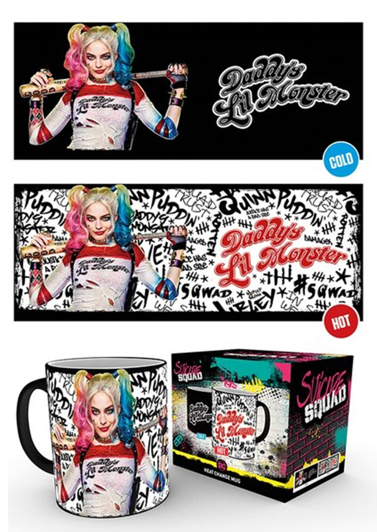 Suicide Squad Daddys Lil Monster Heat Change Mug - 1