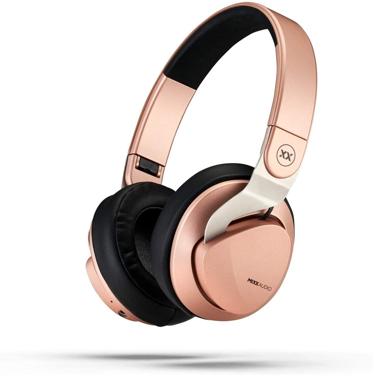 Mixx Audio JX2 Rose Gold Over Ear Bluetooth Headphones - 1