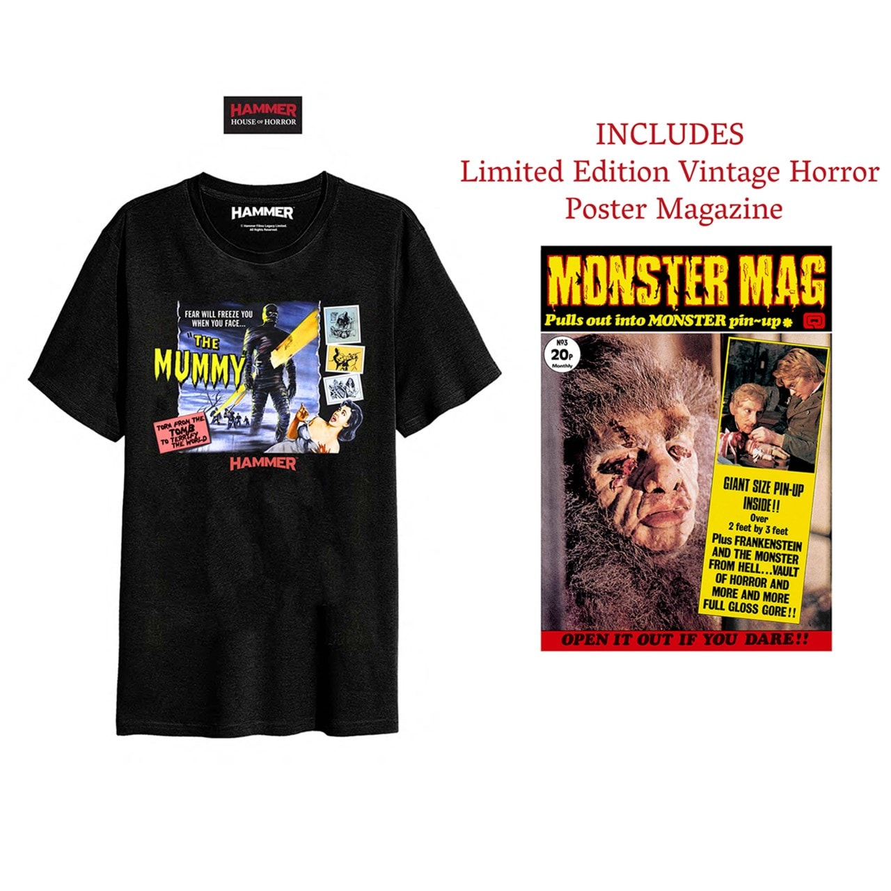 Hammer Horror: Mummy: T-Shirt and Poster Magazine Set (Small) - 1