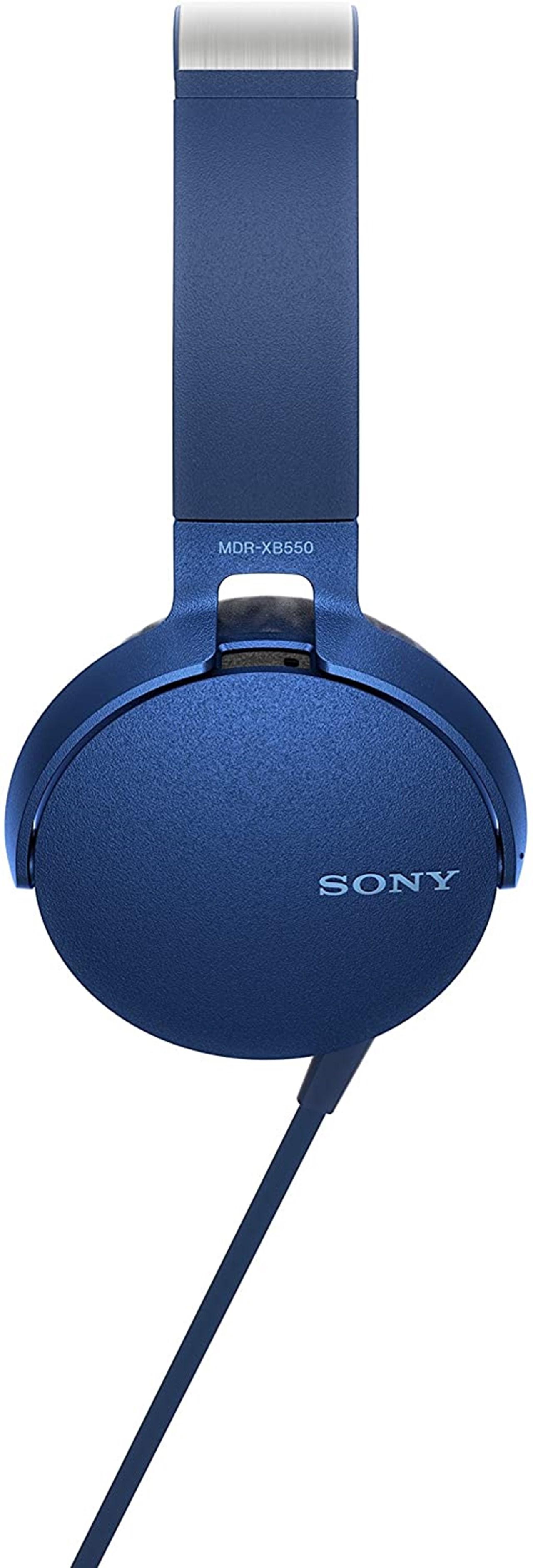 Sony XB550AP Blue Extra Bass Headphones - 6