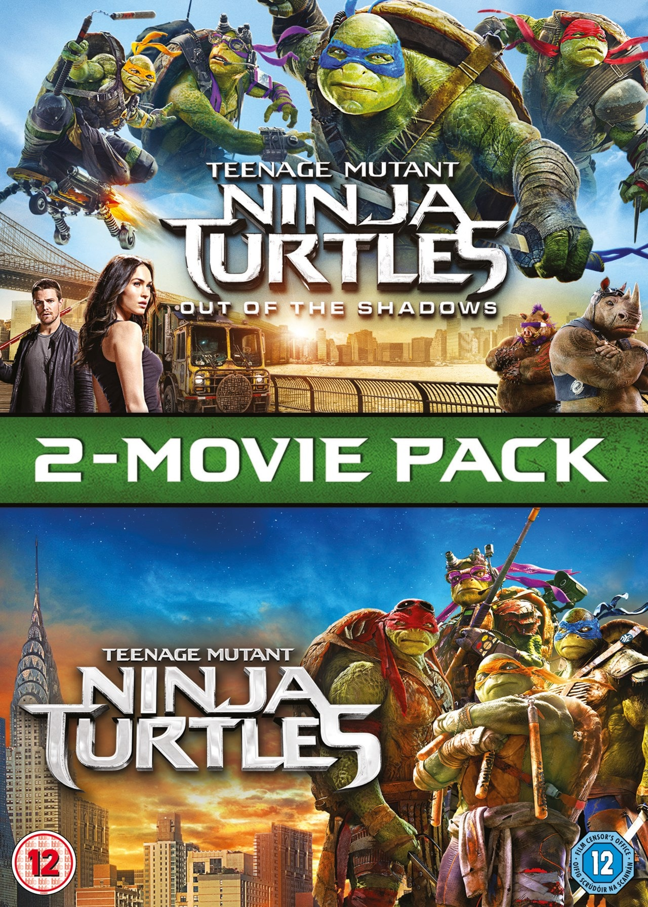 Teenage Mutant Ninja Turtles 2 Movie Pack Dvd Box Set Free Shipping Over 20 Hmv Store
