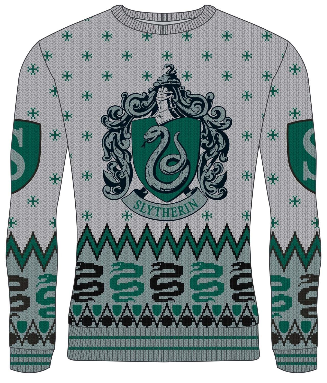 Slytherin Crest: Harry Potter Christmas Jumper (Small) - 1