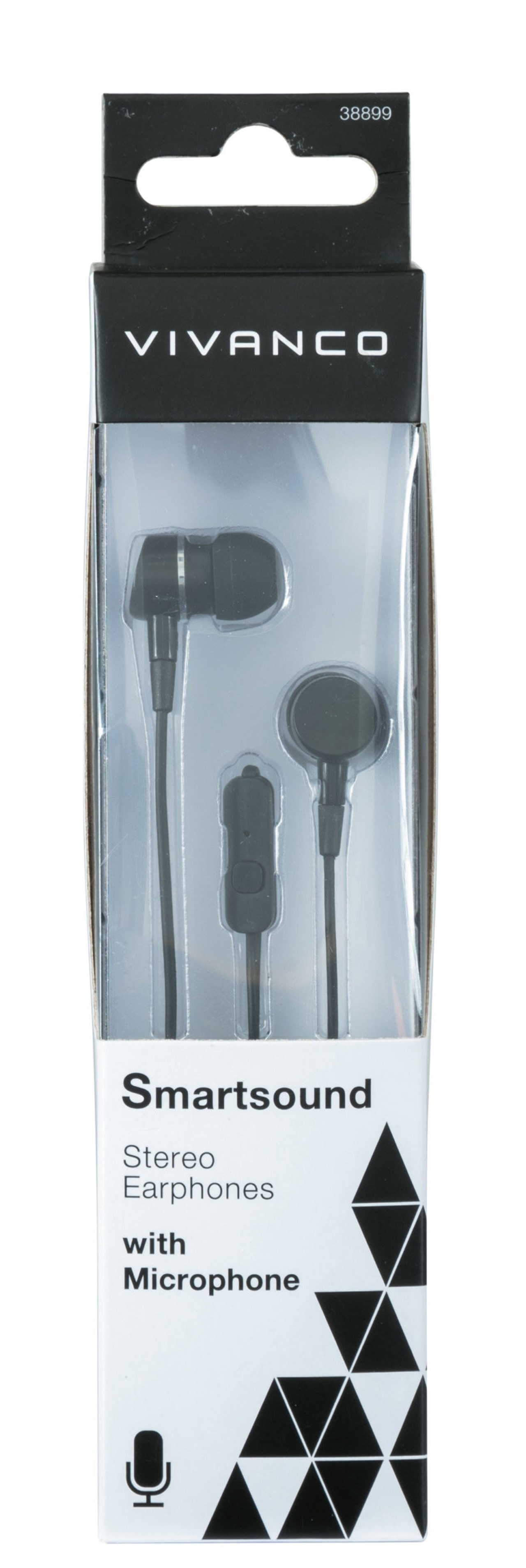 Vivanco Smartsound Black Earphones W/Mic - 2