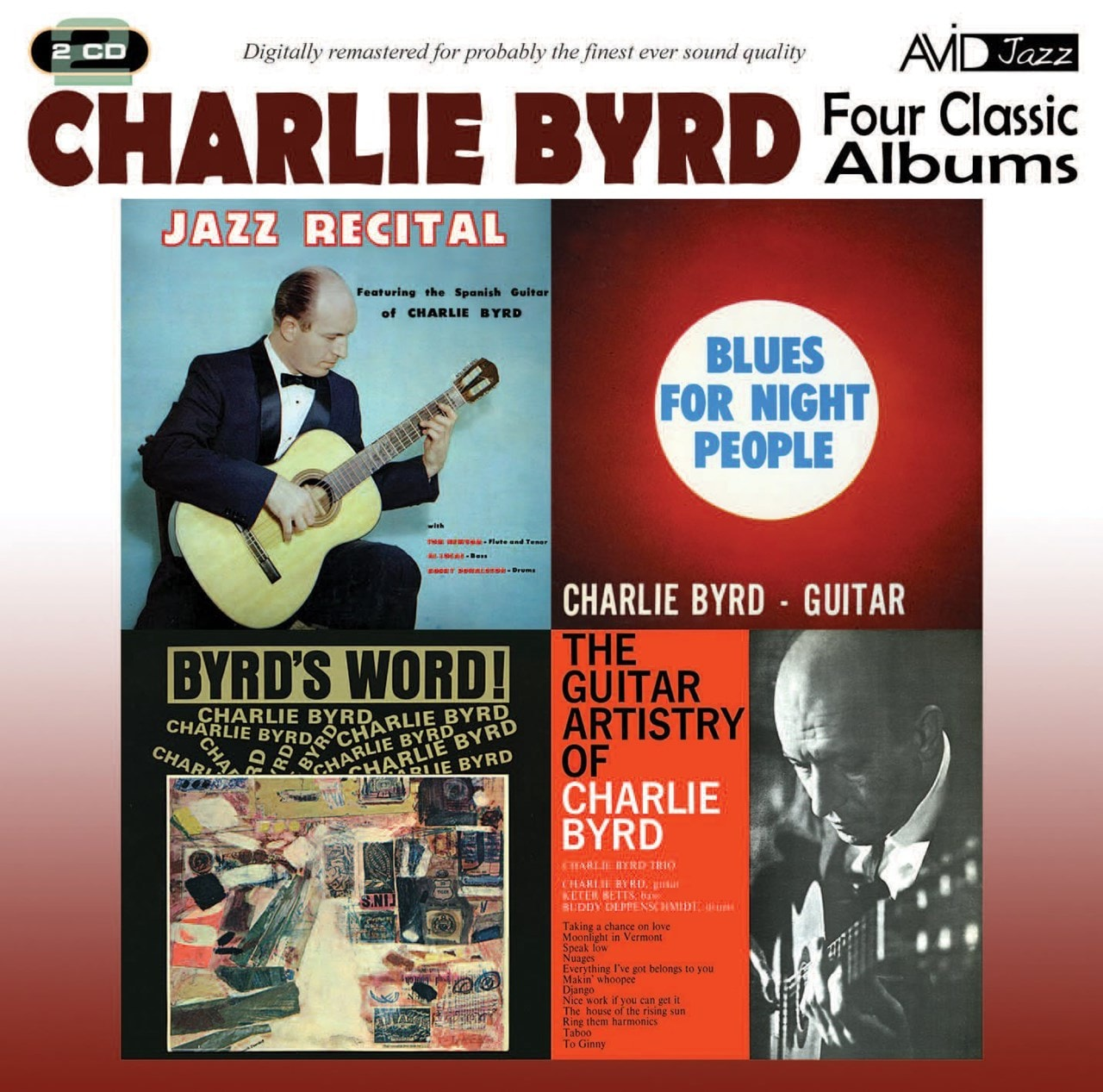 Four Classic Albums: Jazz Recital/Blues for Night People/Byrd's Word!/Guitar Artistry - 1