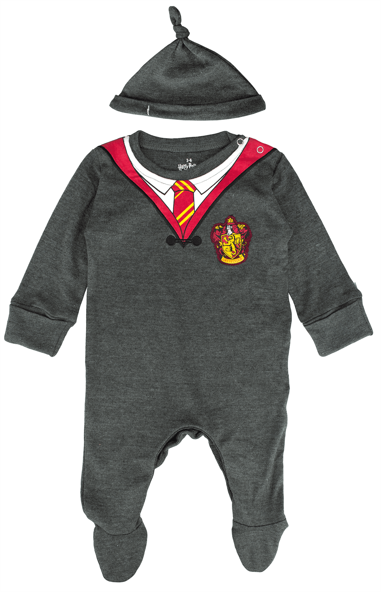 Harry Potter: Gryffindor Baby Grow with Baby Hat (0-3) - 1
