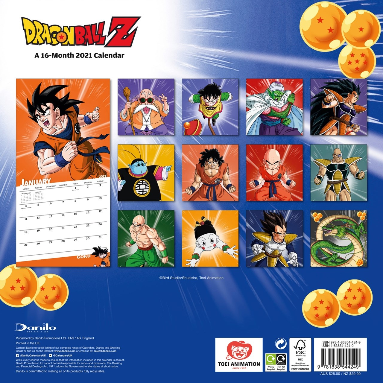 Dragon Ball Z: Square 2021 Calendar - 3