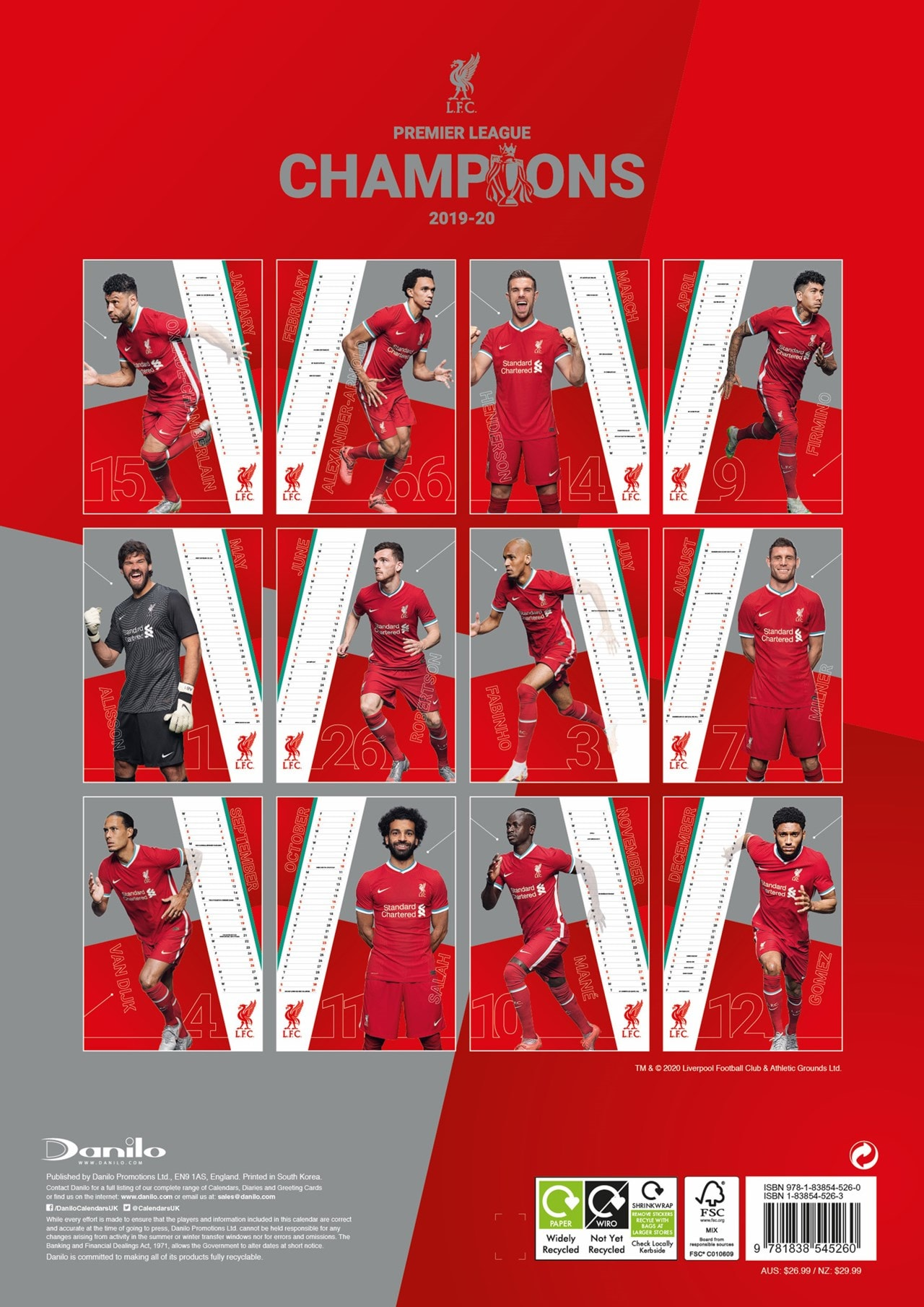 Liverpool FC: Football A3 2021 Calendar - 3